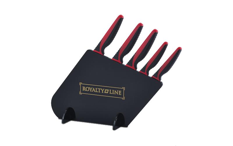 Royalty Line RL-MGS5B Σετ Μαχαίρια 5 τμχ από Ανοξείδωτο Ατσάλι με Αντικολλητική  αξεσουάρ και εργαλεία κουζίνας   μαχαίρια κουζίνας