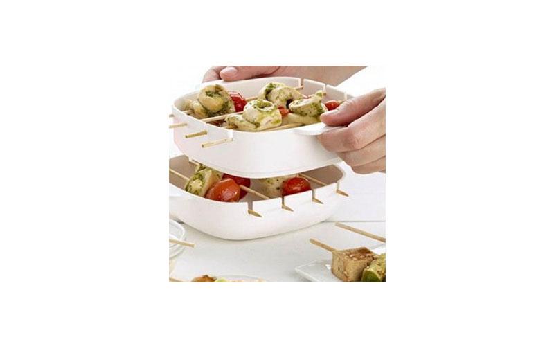 Συσκευή Ψησίματος για Σουβλάκια στο Φούρνο Μικροκυμάτων - Mini Skewers Maker - O αξεσουάρ και εργαλεία κουζίνας   άλλα αξεσουάρ κουζίνας