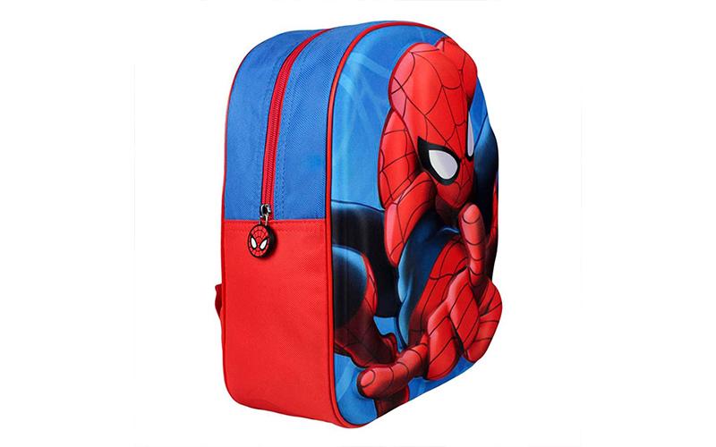 Marvel Spiderman Σχολική τσάντα με φερμουάρ και ρυθμιζόμενους ιμάντες 3D, V13001 σχολικά είδη   σχολικές τσάντες