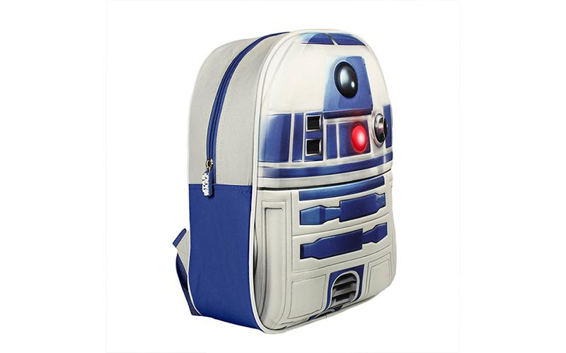 Σχολική τσάντα με φερμουάρ και ρυθμιζόμενους ιμάντες 3D Stars Wars R2D2, Cb V130