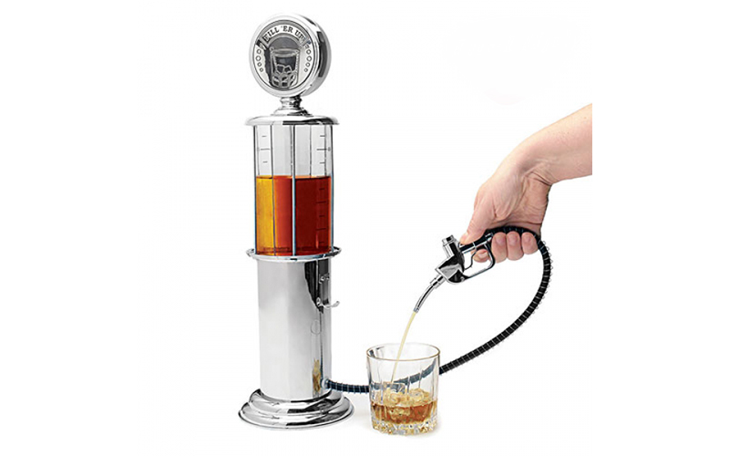 Fuel Up Διανεμητής Ποτών Μπύρας Vintage σε σχήμα Αντλία Βενζίνης 950ml με κάνουλ σπίτι   για την κουζίνα