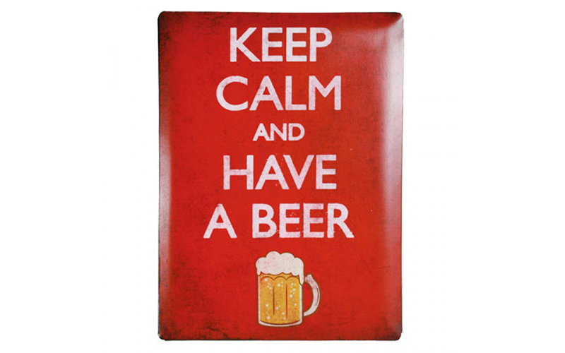 Μεταλλική πινακίδα Keep Calm and Have a Beer 30 x 40 cm, Out of the Blue H210002 διακόσμηση και φωτισμός   πινακίδες  καμβάδες και αφίσες