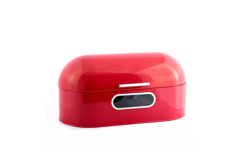 Panera Ρετρό μεταλλική ψωμιέρα σε Κόκκινο χρώμα - Excellent Houseware οργάνωση κουζίνας   ψωμιέρες