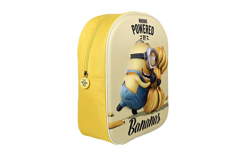 Σχολική τσάντα με φερμουάρ και ρυθμιζόμενους ιμάντες 3D Minion Bananas, Cb V1300 παιχνίδια  παιδί  και  βρέφος   παιδικές τσάντες