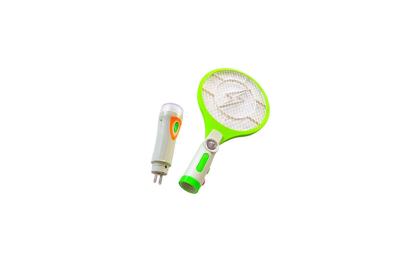 Ηλεκτρικό Εντομοκτόνο Ρακέτα Μυγοσκοτώστρα Επαναφορτιζόμενη με Φακό LED – OEM