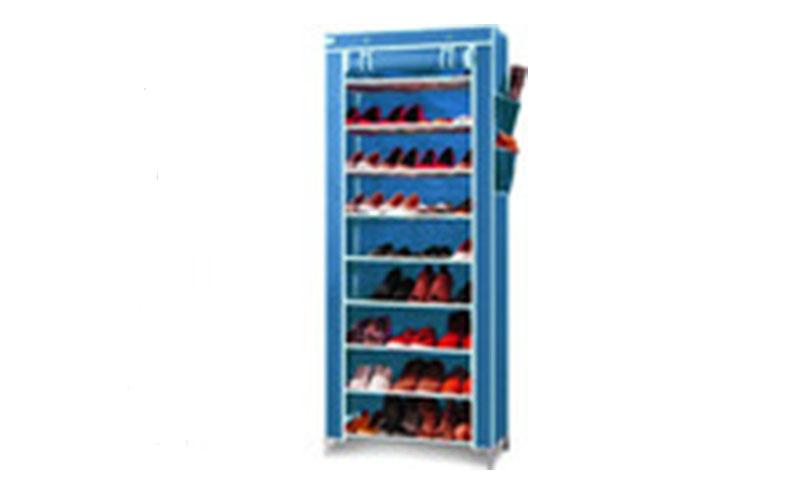 Ντουλάπα - Παπουτσοθήκη Φορητή Υφασμάτινη 7 Ραφιών 150x60x35cm - OEM οργάνωση σπιτιού   ντουλάπες