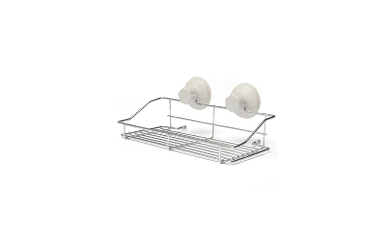 Μεταλλική Θήκη Ραφάκι Κουζίνας / Μπάνιου με μηχανισμό Βεντούζας - OEM κουζίνα   οργάνωση κουζίνας