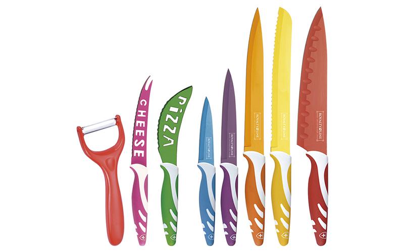 Royalty line RL-COL7c Σετ 7 Αυθεντικών Ελβετικών Μαχαιριών από ανοξείδωτο ατσάλι αξεσουάρ και εργαλεία κουζίνας   μαχαίρια κουζίνας
