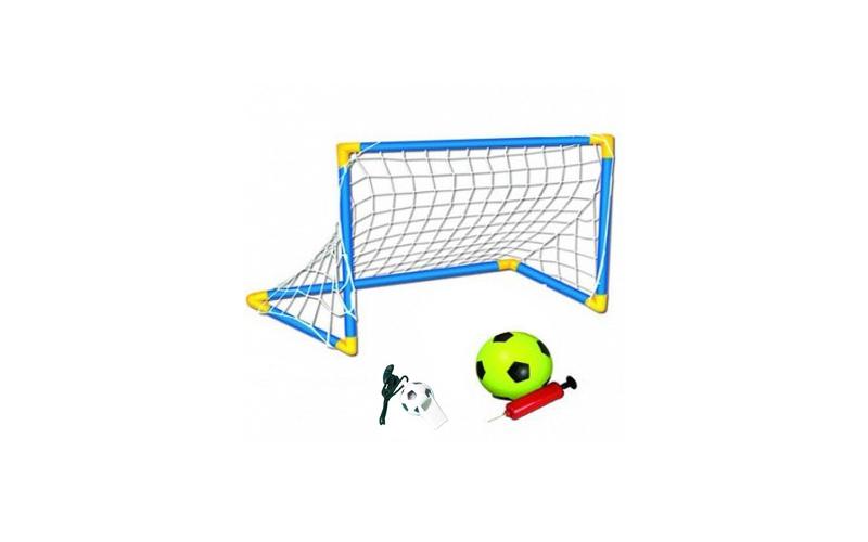 Σετ Ποδοσφαίρου με Τέρμα, Μπάλα, Τρόμπα & Σφυρίχτρα - OEM παιχνίδια  παιδί  και  βρέφος   έξυπνα   εκπαιδευτικά παιχνίδια