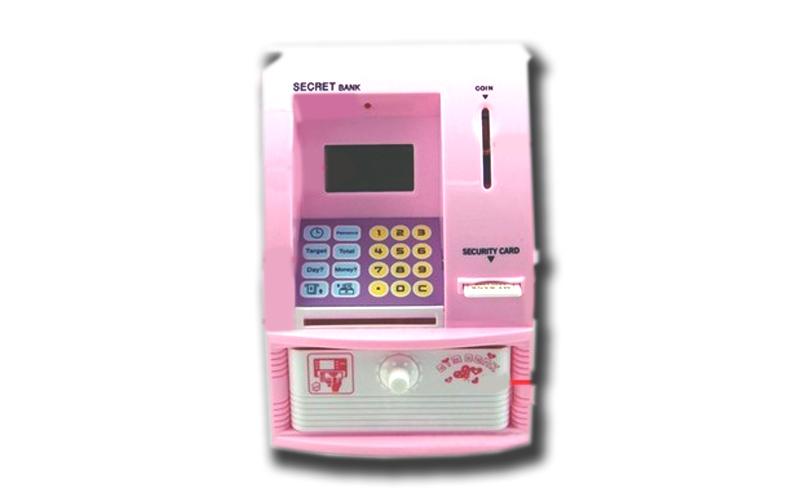 Κουμπαράς Μινι ΑΤΜ με πιστωτική Κάρτα και πολλές επιλογές, ATM Bank Mini Type -  οικιακά είδη   διάφορα είδη για το σπίτι