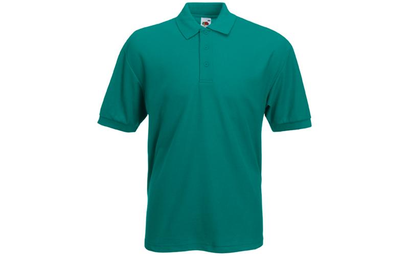 Ανδρική Πόλο Μπλούζα με κουμπιά 65/35 Polo, Emerald No 77, Fruit of the Loom 63- ανδρική ένδυση   ανδρικές μπλούζες