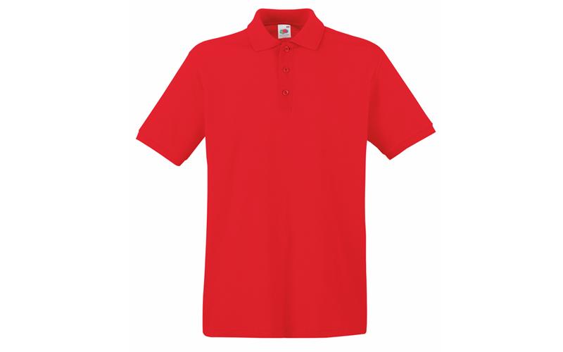 Ανδρική Πόλο Μπλούζα με κουμπιά 65/35 Polo, Red No 40, Fruit of the Loom 63-402- ανδρική ένδυση   ανδρικές μπλούζες