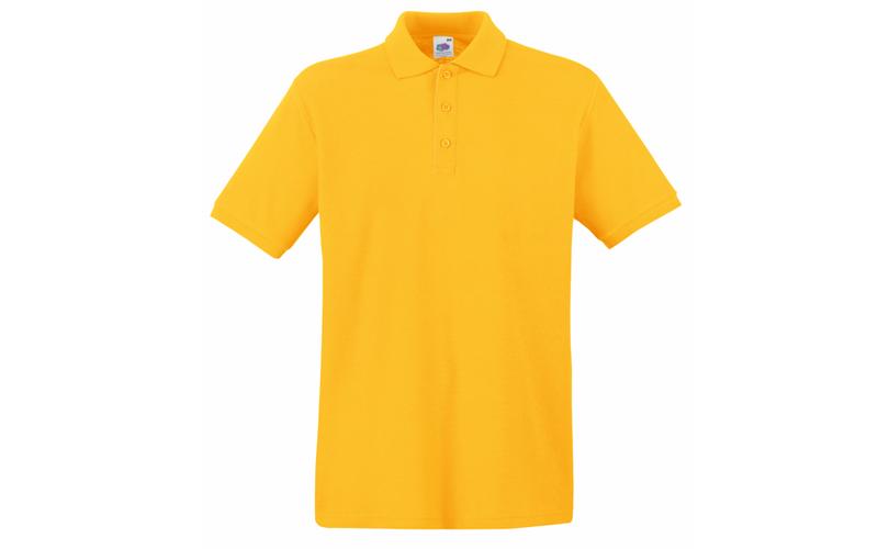 Ανδρική Πόλο Μπλούζα με κουμπιά 65/35 Polo, Sunflower No 34, Fruit of the Loom 6 ανδρική ένδυση   ανδρικές μπλούζες