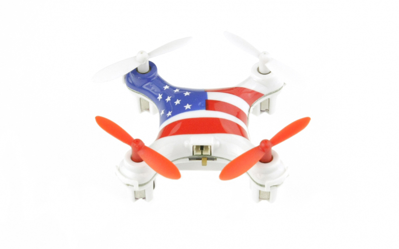 Mini Τηλεκατευθυνόμενο Drone Ελικόπτερο 6 Axis Gyro 2.4Hz με Αμερικάνικη Σημαία, gadgets   drones   τηλεκατευθυνόμενα