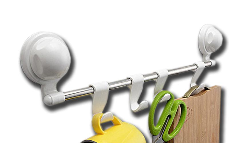 Λειτουργική Κρεμάστρα για την Κουζίνα ή το Μπάνιο 44cm με Μηχανισμό Βεντούζας γι για την κουζίνα   οργάνωση κουζίνας