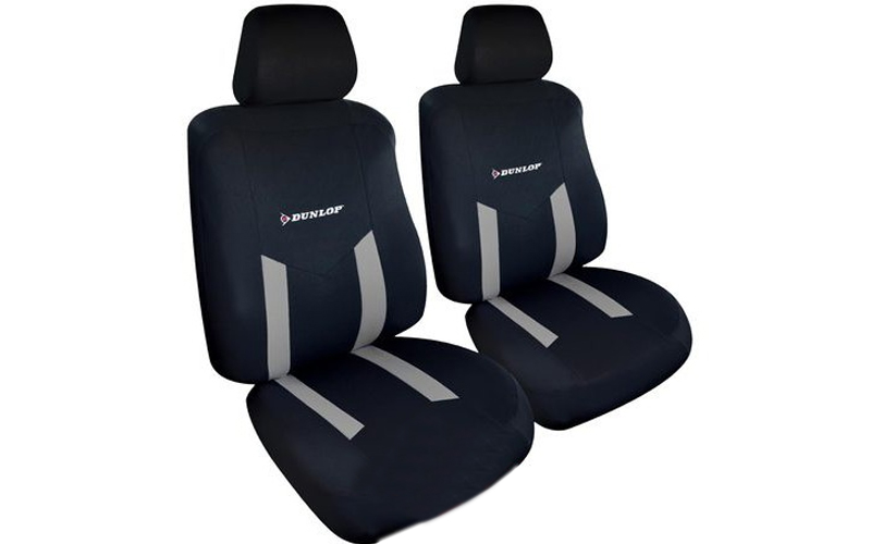 Dunlop Universal Καλύμματα Καθισμάτων Αυτοκινήτου σετ 6 τεμ σε Γκρι χρώμα, 41763 αξεσουάρ αυτ του   καλύμματα   κουκούλες   πατάκια