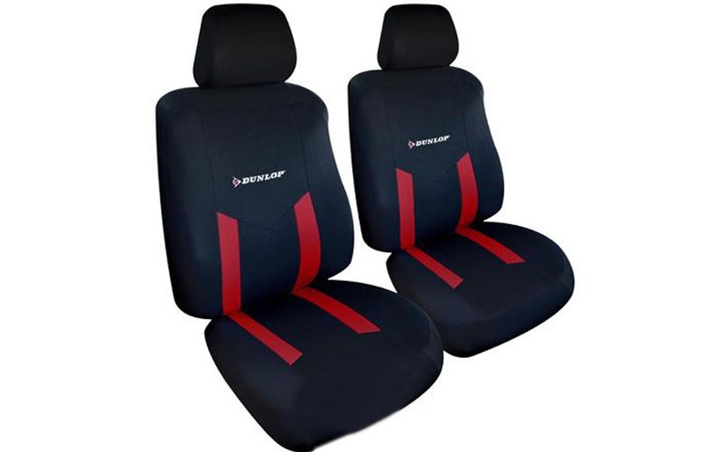 Dunlop Universal Καλύμματα Καθισμάτων Αυτοκινήτου σετ 6 τεμ σε Κόκκινο χρώμα, 41 αξεσουάρ αυτ του   καλύμματα   κουκούλες   πατάκια