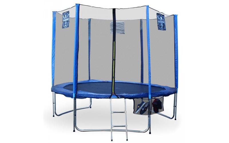 Σετ Τραμπολίνο 3,05μ σε Μπλε χρώμα με προστατευτικό δίχτυ ασφαλείας, σκάλα και θ sports   γυμναστική  και  fitness