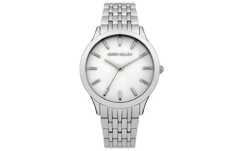 Karen Millen KM106SM Γυναικείο Ρολόι PVD Stainless Steel Plate Mother Of Pearl B ρολόγια χειρός   γυναικεία ρολόγια χειρός