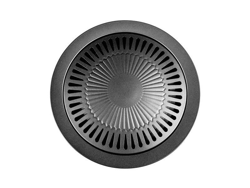 Σχάρα μαντεμένια γκριλ για την κουζίνα Smokeless Stovetop Barbecue Grill Black 1 BK 12012 – OEM
