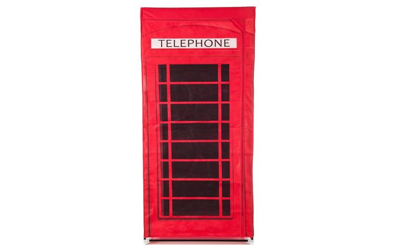 Ντουλάπα υφασμάτινη 75.5x45.5x161cm, Telephone Box, Storage Solutions 639461 - S έπιπλα   ντουλάπες και αξεσουάρ