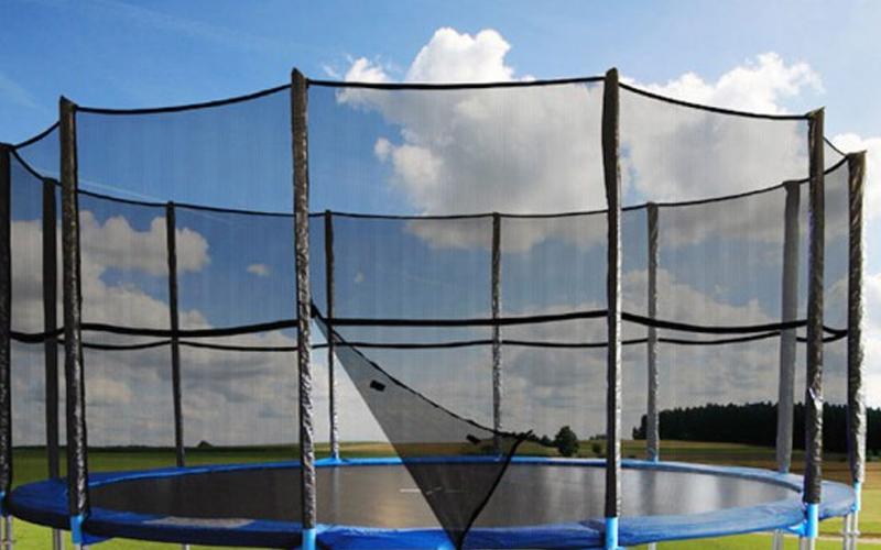 Δίχτυ Ασφαλείας για τραμπολίνο Διαμέτρου 4.30m και ύψους 1.80m με 6 θήκες για στ όργανα γυμναστικής   τραμπολίνο