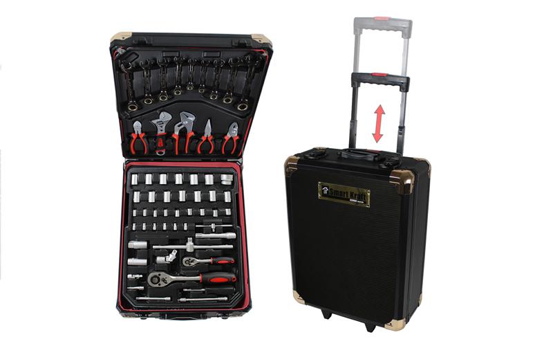 Εργαλειοθήκη Βαλίτσα Smart Kraft 295 τμχ με Ροδάκια & Τηλεσκοπικό Χερούλι, Smart σπίτι   εργαλεία