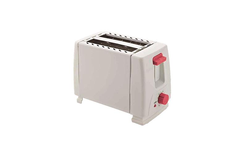 Αυτόματη Φρυγανιέρα Muhler MH-828R Σε Άσπρο Χρώμα Με Κόκκινους Διακόπτες 102624  ηλεκτρικές οικιακές συσκευές   τοστιέρες   σαντουιτσιέρες   φρυγανιέρες