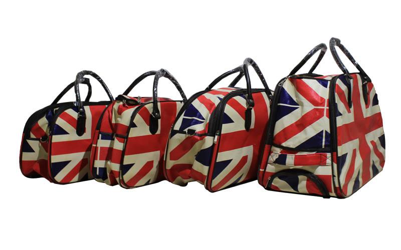 Βαλίτσες Ταξιδιού Σετ 4τεμ Με Ντιζάιν Την Αγγλική Σημαία Με Τηλεσκοπικό Χερούλι  ρούχα  παπούτσια  και  αξεσουάρ   τσάντες  πορτοφόλια  βαλίτσες ταξιδίου