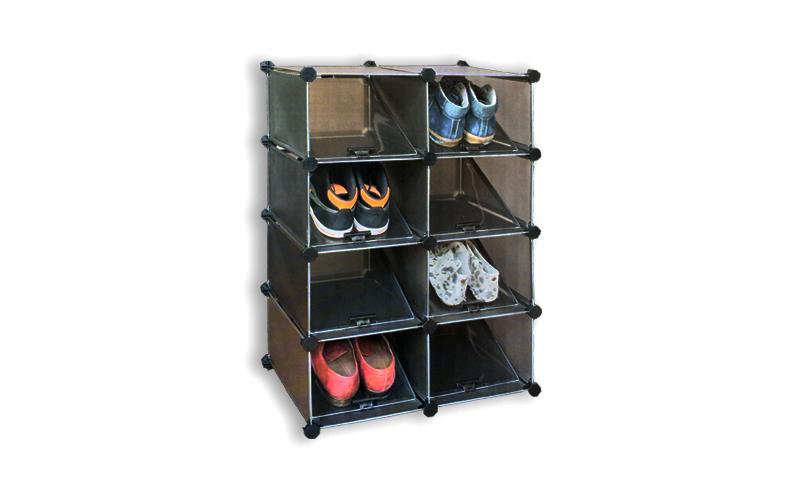 Παπουτσοθήκη 50x74x50cm με 8 ράφια για αποθήκευση μέχρι 16 ζευγάρια παπούτσια, Deluxa 19143 – Deluxa