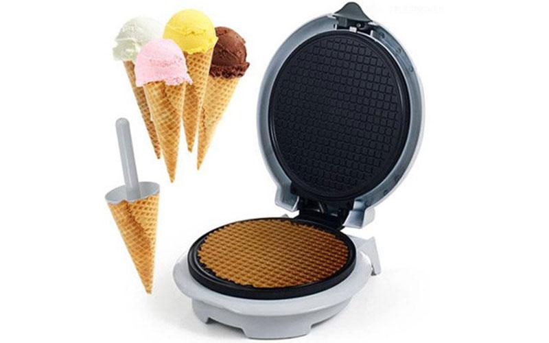 Συσκευή παρασκευής χωνάκια παγωτού με αντικολλητική πλάκα 750W 18cm, Telefunken  μικροσυσκευές   βάφλες  κρέπες  μπισκότα  κέικ