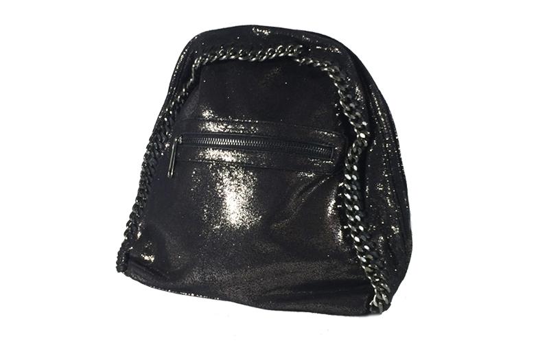 Γυναικεία Τσάντα Πλάτης σε μαύρο λαμέ χρώμα, 24x29x14cm, Dudlin 3135-27 - Dudlin ρούχα  παπούτσια  και  αξεσουάρ   τσάντες  πορτοφόλια  βαλίτσες ταξιδίου