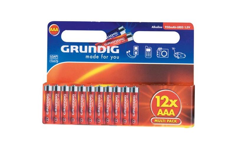 Grundig 38303 Αλκαλικές Μπαταρίες ΑΑA 950mAh-LR03 συσκευασία 12 τεμ. - Grundig