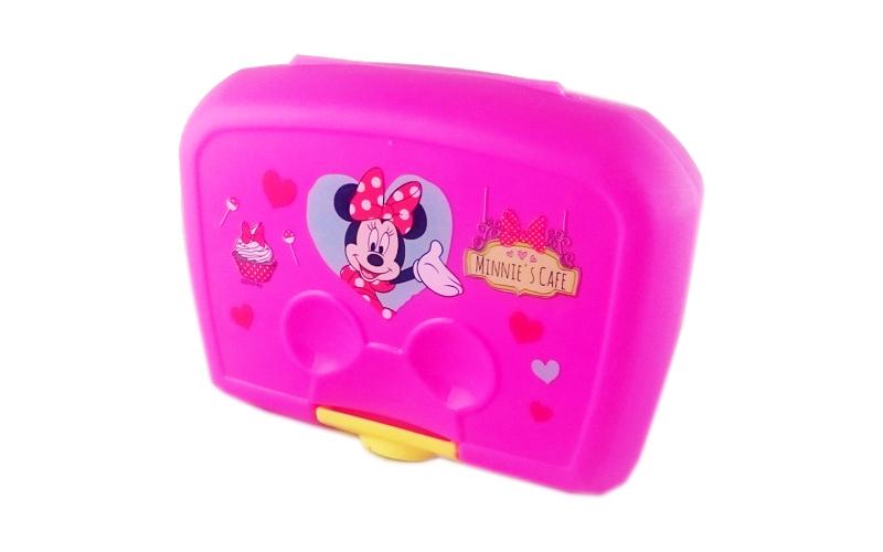 Παιδικό Φαγητοδοχείο Ταπεράκι 15x12.5x5.5cm Minnie Mouse σε Φούξια χρώμα, Disney 41382 - Disney