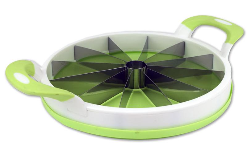 Alpina 41747 Κόφτης Καρπουζιού/Πεπονιού σε πράσινο χρώμα με ασορτί δίσκο – Alpina