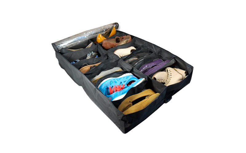 Jocca Διοργανωτής παπουτσιών για 12 ζευγάρια σε πρακτική θήκη 70x60x15cm σε Μαύρ έπιπλα   παπουτσοθήκες