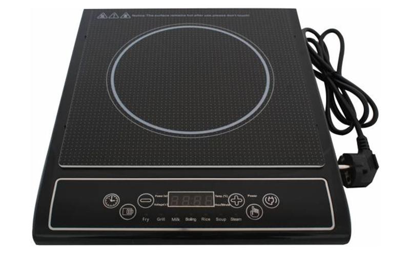 Μονή Επαγωγική Εστία 25x25cm - Induction Cooker 2000W σε Μαύρο χρώμα, Top Cook 6 μικροσυσκευές   ηλεκτρικές εστίες