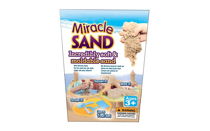 Μαγική Άμμος που πλάθεται εύκολα 500gr με 3 πλαστικά εργαλεία, Toy King Miracle  παιχνίδια  παιδί  και  βρέφος   έξυπνα   εκπαιδευτικά παιχνίδια