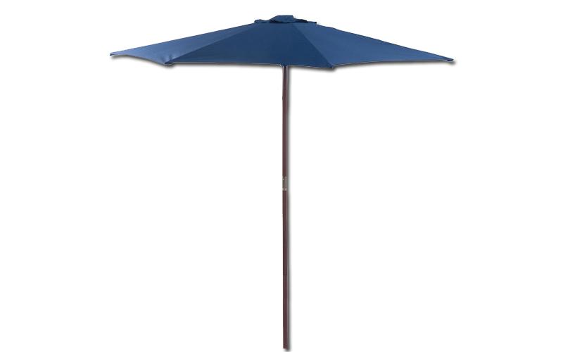 Aδιάβροχη Ξύλινη Ομπρέλα κήπου με διάμετρο 3m και ύψος 2.40m σε Μπλε χρώμα με ξύ κήπος και βεράντα   ομπρέλες και τέντες