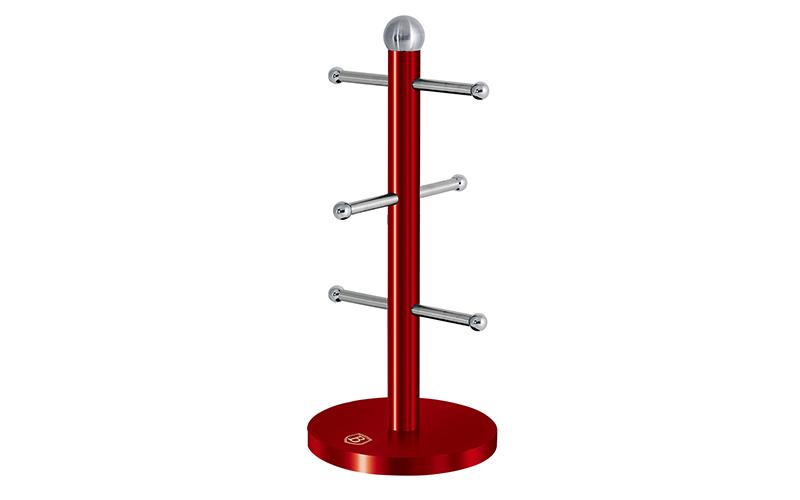 Κρεμάστρα σε σχέδιο δέντρου για κούπες σε Κόκκινο Μεταλλικό χρώμα, Passion Colle αξεσουάρ και εργαλεία κουζίνας   άλλα αξεσουάρ κουζίνας