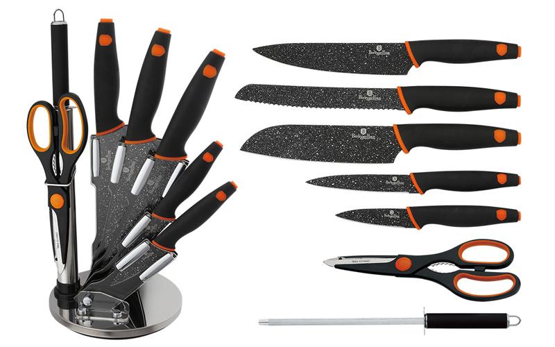 Σετ Αντιβακτηριδιακών Αντικολλητικών Μαχαιριών συν ψαλίδι και ακονιστή λίμα 8 τε αξεσουάρ και εργαλεία κουζίνας   μαχαίρια κουζίνας