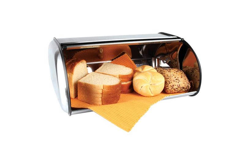 Muhler Ψωμιέρα σε Inox χρώμα 42x25x18cm - Muhler οργάνωση κουζίνας   ψωμιέρες