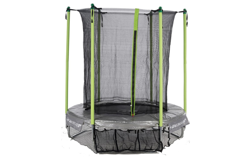 Dunlop Σετ Τραμπολίνο 2,44m x 60cm με προστατευτικό δίχτυ ασφαλείας 1,80m και θή sports   γυμναστική  και  fitness