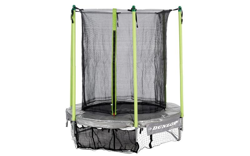 Dunlop Σετ Τραμπολίνο 1,82m x 45cm με προστατευτικό δίχτυ ασφαλείας 1,80m και θή sports   γυμναστική  και  fitness