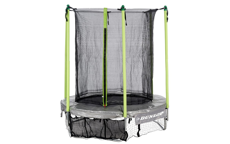 Dunlop Τραμπολίνο με δίχτυ ασφαλείας 1,80m διαμέτρου 1,82m x 45cm και θήκη παπου