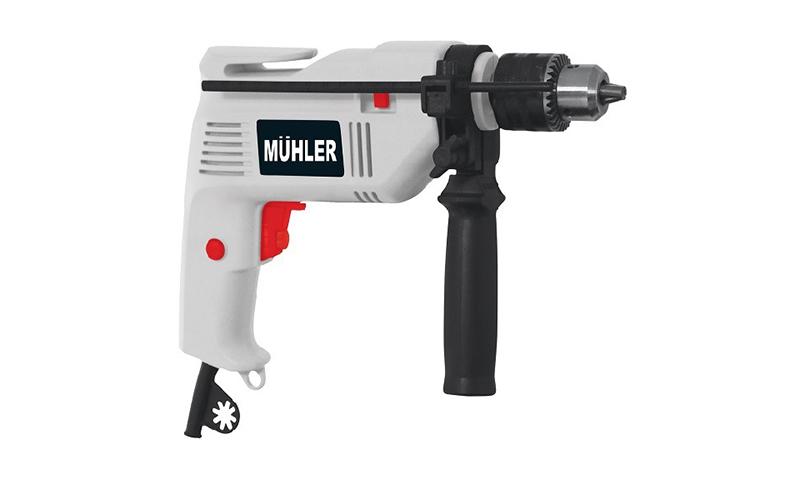 Muhler IDM-5013 Μεταλλικό Κρουστικό Ηλεκτρικό Δράπανο σε γκρι χρώμα 27.5x25.5x7c