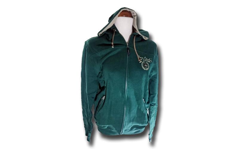 Ανδρική Ζακέτα με κουκούλα Pierre Cardin σε Πράσινο Χρώμα με λογότυπο στο στήθος ανδρική ένδυση   ανδρικά φούτερ πουλόβερ και μπουφάν
