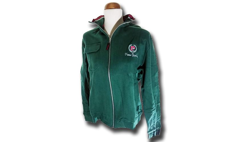 Ανδρική Ζακέτα Pierre Cardin σε Πράσινο Χρώμα με λογότυπο στο στήθος και φερμουά ανδρική ένδυση   ανδρικά φούτερ πουλόβερ και μπουφάν