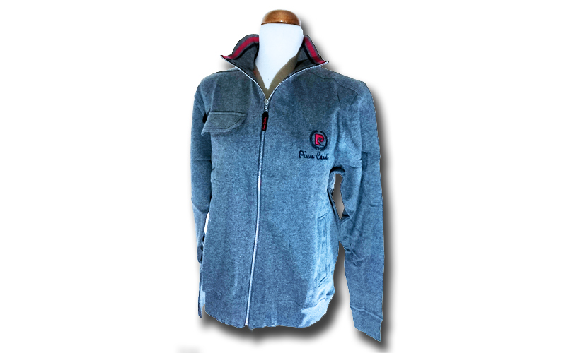 Ανδρική Ζακέτα Pierre Cardin σε Grey Melange Χρώμα με λογότυπο στο στήθος και φε ανδρική ένδυση   ανδρικά φούτερ πουλόβερ και μπουφάν