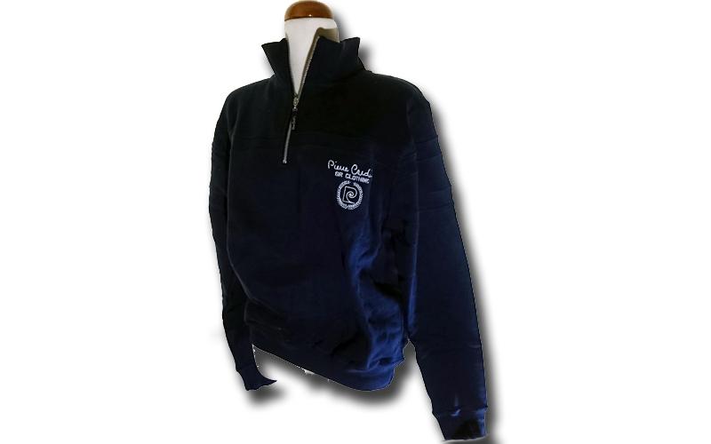 Ανδρική Ζακέτα Pierre Cardin σε Navy Χρώμα με λογότυπο στο στήθος και φερμουάρ,  ανδρική ένδυση   ανδρικά φούτερ πουλόβερ και μπουφάν